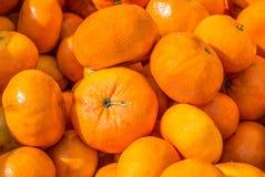 Feche acima das tangerinas alaranjadas brilhantes Imagens de Stock