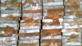 Feche acima das texturas da madeira na madeira cortada Imagens de Stock
