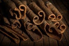 Feche acima das varas de canela Imagem de Stock Royalty Free