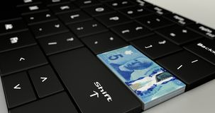 Feche acima de Canadá o botão de cinco dólares ilustração royalty free