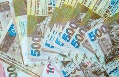 Feche acima de Hong Kong Banknote imagens de stock