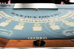 Feche acima de Jack Gambling Table preto imagem de stock royalty free