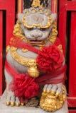 Feche acima de Lion Stature antigo fotografia de stock