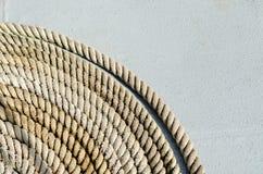 Feche acima de Marine Rope Coil Fotografia de Stock Royalty Free