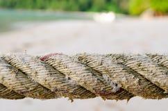 Feche acima de Marine Rope Coil Imagens de Stock Royalty Free
