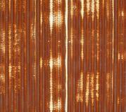 Feche acima de metal ondulado com oxidação ilustração do vetor