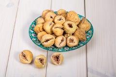 Feche acima de Mini Whole Figs In Round delicioso secado Sun superior foto de stock