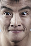 Feche acima de novo equipa o sorriso da cara Foto de Stock