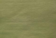 Feche acima de Olive Cotton Textile Texture verde fotos de stock