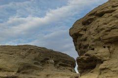 Feche acima de Rimrock Sandsrone, faturamentos Montana imagem de stock