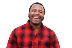 Feche acima de rir o homem afro-americano novo imagem de stock royalty free