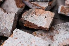 Feche acima de tijolo de cor castanha foto de stock