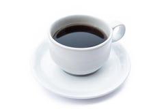 Feche acima de um copo de café com café preto Imagem de Stock