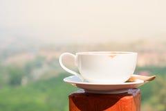 Feche acima de um copo de café, manhã Foto de Stock