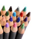 Feche acima de um grupo de lápis coloridos Imagem de Stock Royalty Free