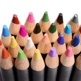 Feche acima de um grupo de lápis coloridos Fotos de Stock Royalty Free