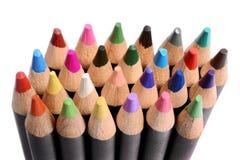 Feche acima de um grupo de lápis coloridos Fotografia de Stock Royalty Free