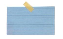 Feche acima de um papel de nota branco Fotografia de Stock Royalty Free