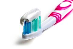 Feche acima de um toothbrush Fotos de Stock Royalty Free