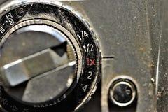 Feche acima de uma câmera análoga Macro do seletor do seletor fotos de stock