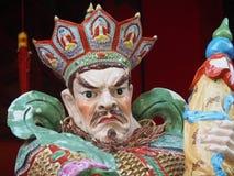 Feche acima de uma estátua no Wong Tai Sin Temple em Hong Kong, China foto de stock