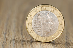 Feche acima de uma euro- moeda luxemburguesa Fotografia de Stock