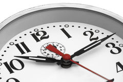 Feche acima de uma face do relógio Imagem de Stock