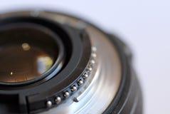 Feche acima de uma lente de zoom fotografia de stock