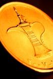 Feche acima de uma moeda de um dirham Imagem de Stock Royalty Free