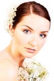 Feche acima de uma noiva bonita Foto de Stock