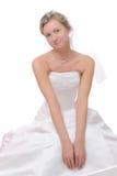 Feche acima de uma noiva bonita. Imagem de Stock Royalty Free