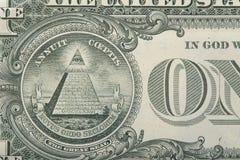 feche acima de uma nota de dólar Fotos de Stock