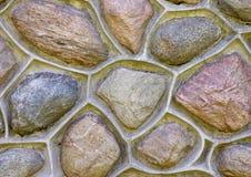 Feche acima de uma parede de pedra Fotografia de Stock Royalty Free