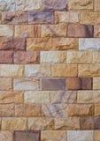 Feche acima de uma Tijolo-parede usada como um fundo da textura Fotografia de Stock