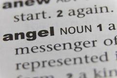 Feche acima do anjo da palavra imagens de stock