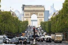 Feche acima do arco Champs-Elysees Fotos de Stock Royalty Free