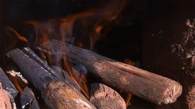 Feche acima do ardor entra o incêndio imagem de stock royalty free