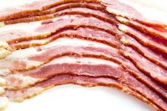 Feche acima do bacon cru Fotografia de Stock Royalty Free
