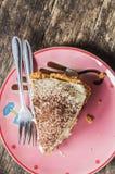 Feche acima do bolo da banana Imagens de Stock