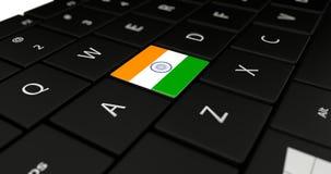 Feche acima do botão da Índia Imagens de Stock Royalty Free