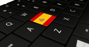 Feche acima do botão da Espanha Imagens de Stock Royalty Free