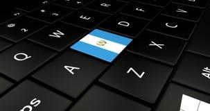 Feche acima do botão da Guatemala ilustração do vetor