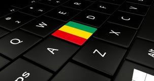 Feche acima do botão da Guiné ilustração do vetor