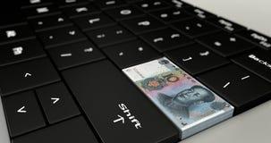 Feche acima do botão de China dez Yuan ilustração royalty free