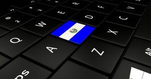 Feche acima do botão de El Salvador ilustração stock
