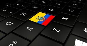 Feche acima do botão de Equador ilustração royalty free