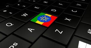 Feche acima do botão de Etiópia ilustração stock