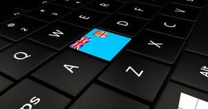 Feche acima do botão de Fiji ilustração do vetor