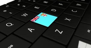 Feche acima do botão de Fiji Fotografia de Stock Royalty Free