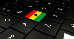 Feche acima do botão de Gana ilustração stock